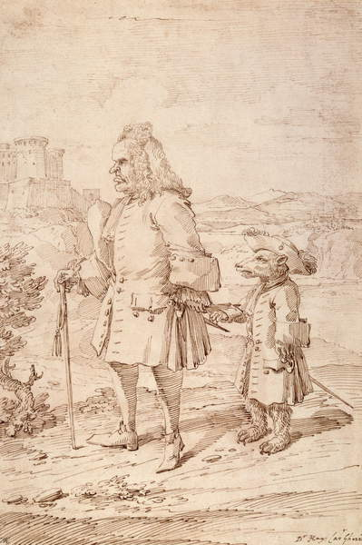 A man and a bear in clothing