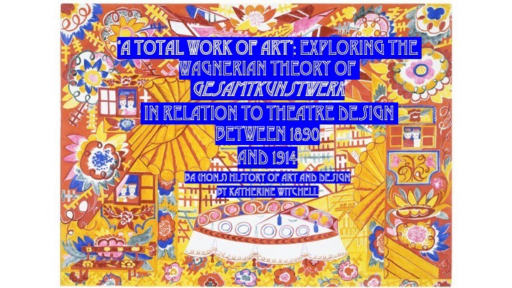 Title of essay on colourful yellow red and blue illustration