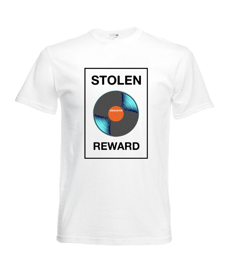 Stolen Reward T-Shirt with Record vinyl graphic (Click to view Gif)