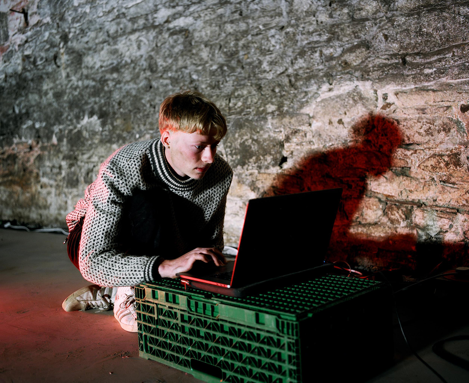 Artist with laptop