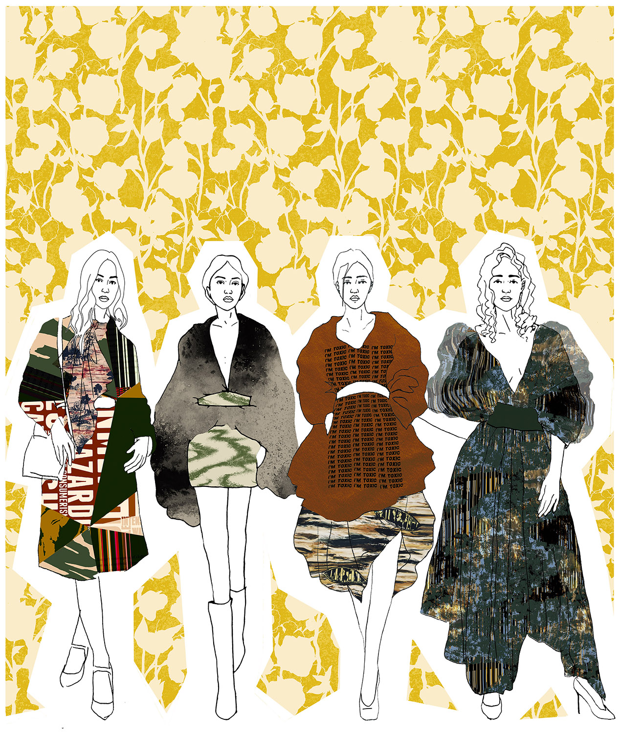 Fashion print illustrations