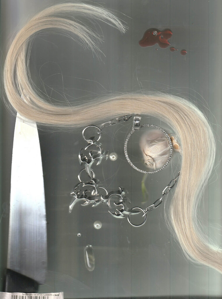 Photo of hair with jewellerey