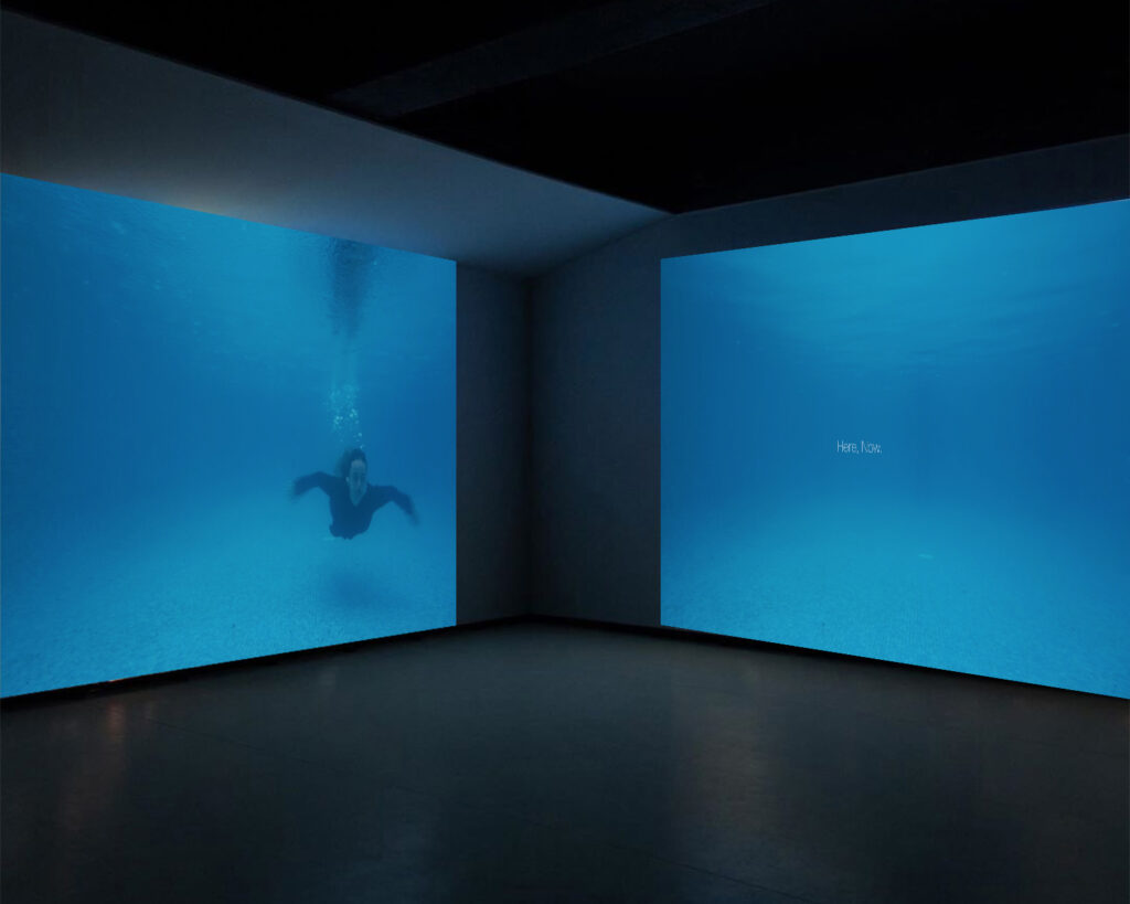Photo of projected underwater installation