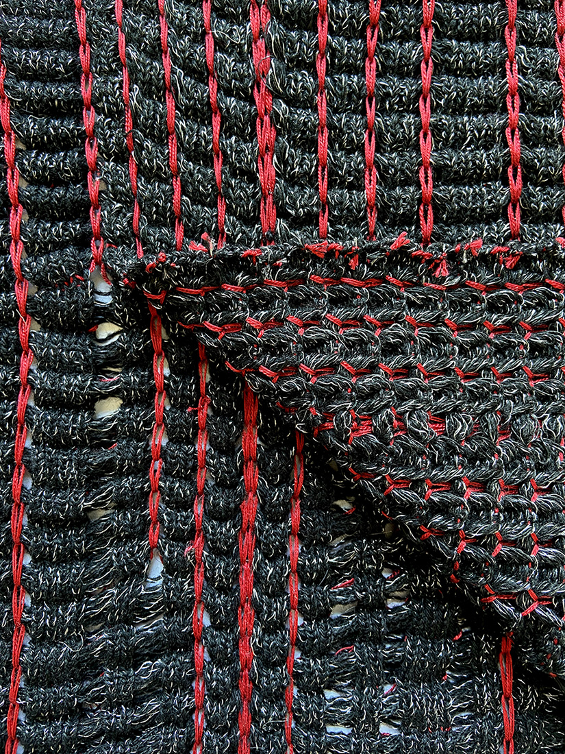 Knitted Textile Sample Close Up