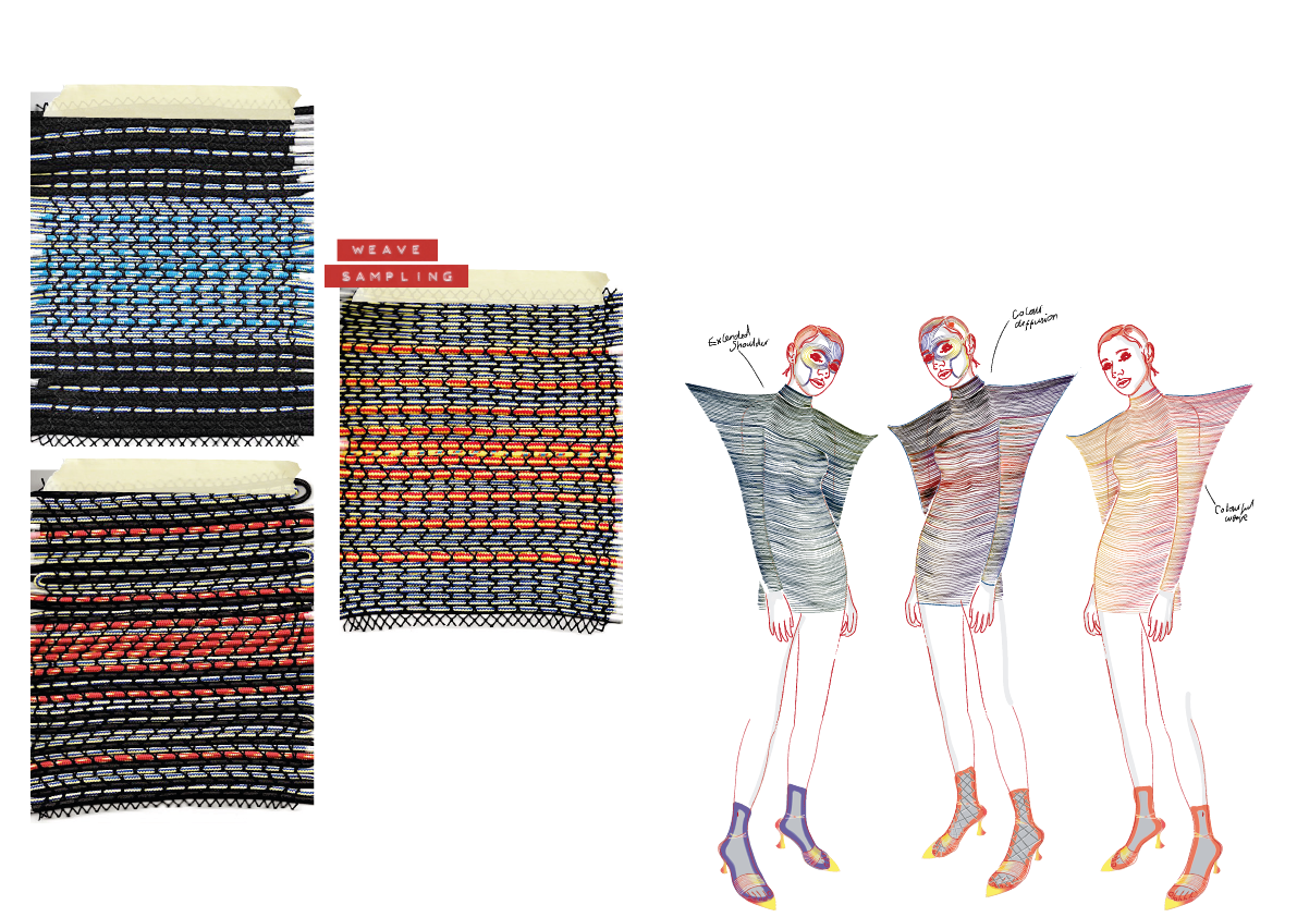 Woven Textile samples and illustration
