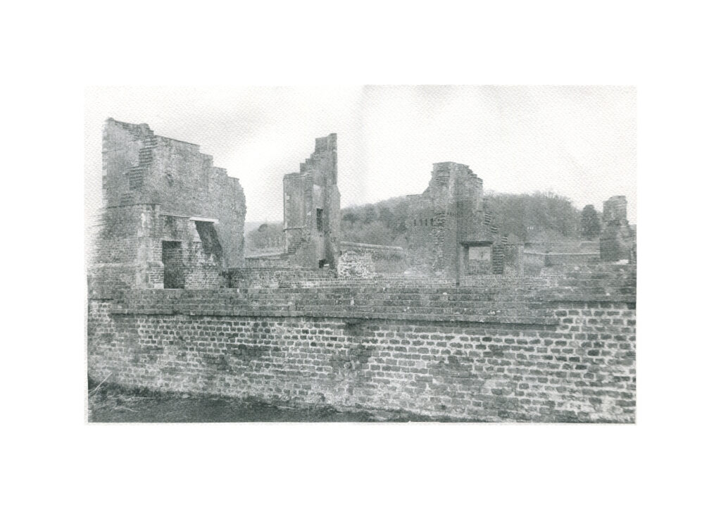 faded image of church ruins