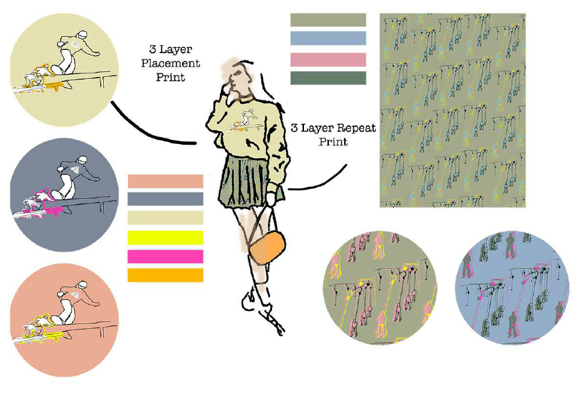 Fabric and illustrations image