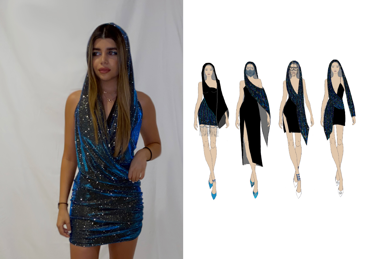 Fashion photograph and Illustration.