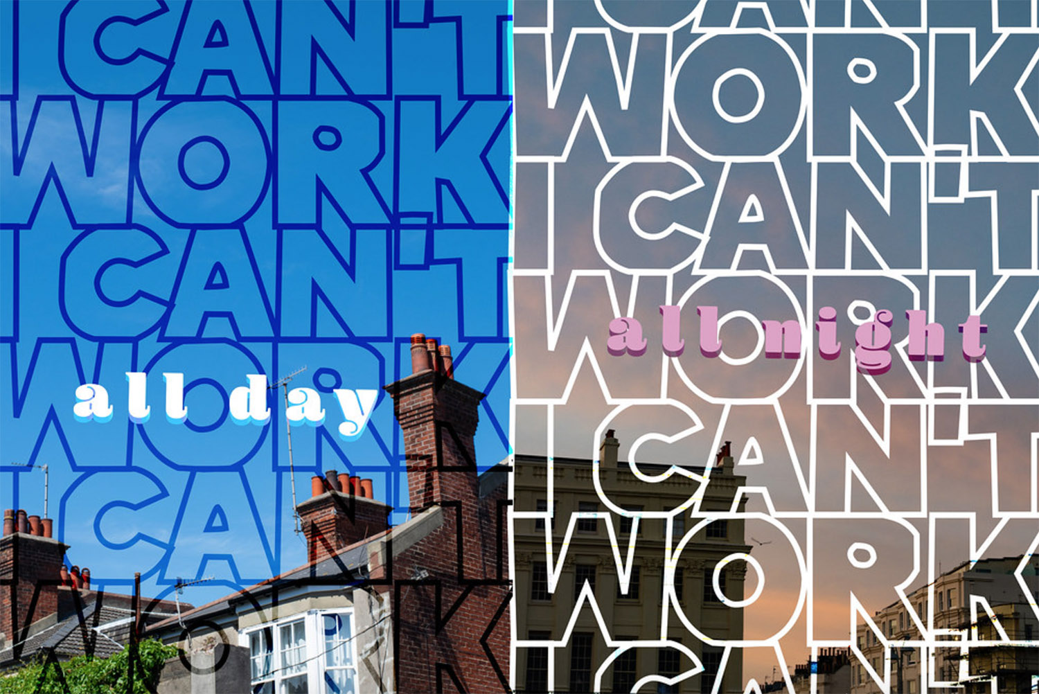 I can't work poster