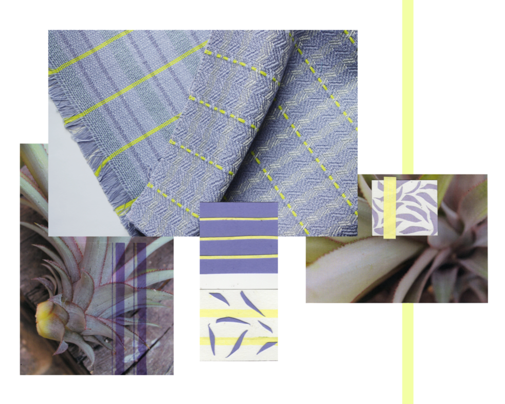Woven Swatches Grey Blue Yellow
