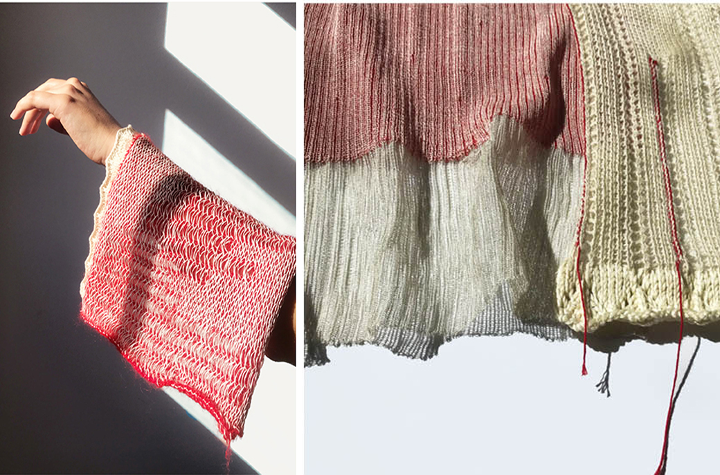Knitted samples