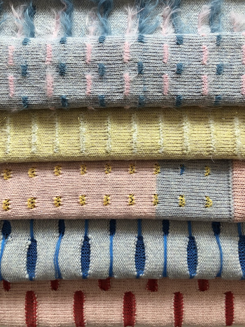 Various knit techniques
