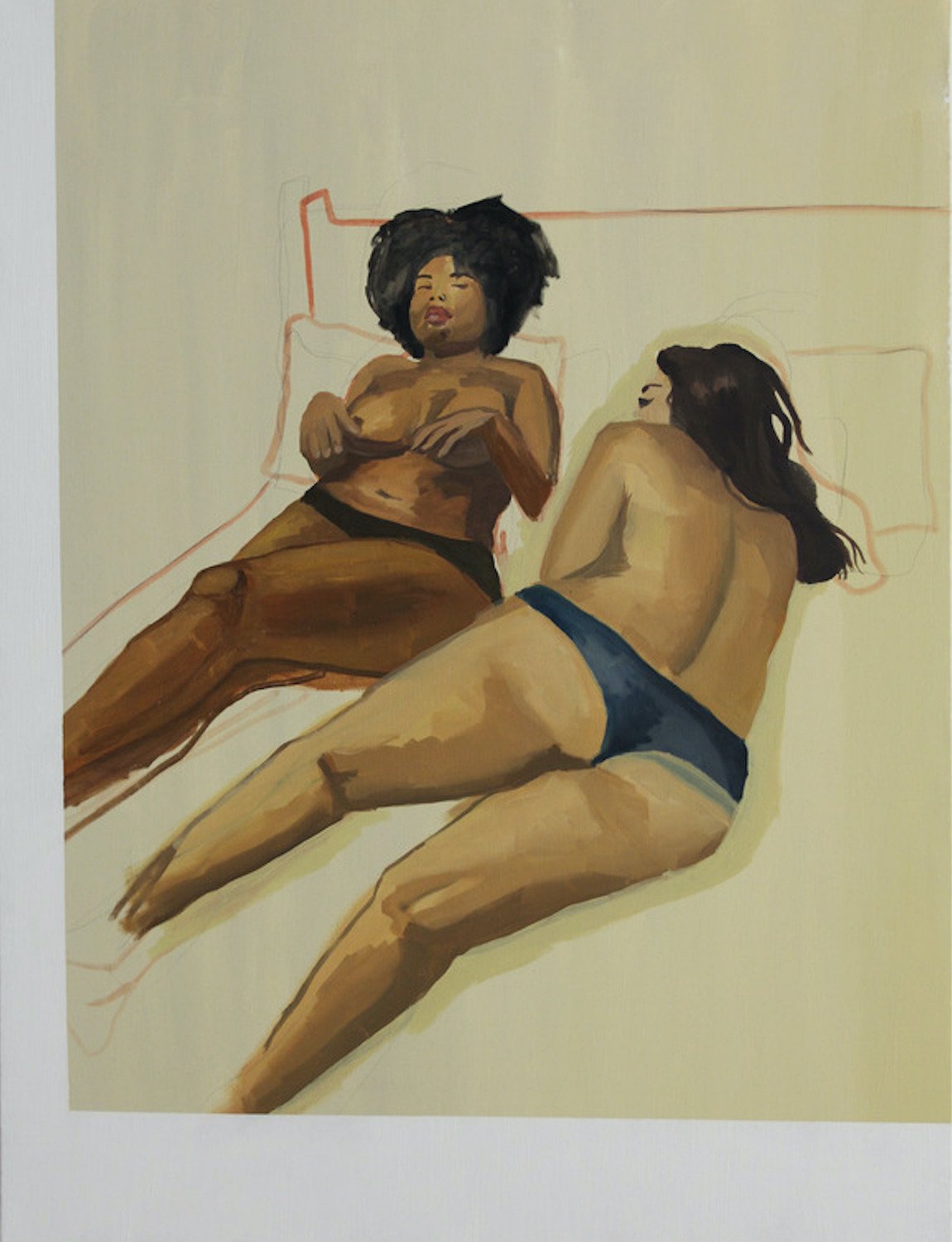 two reclined figures