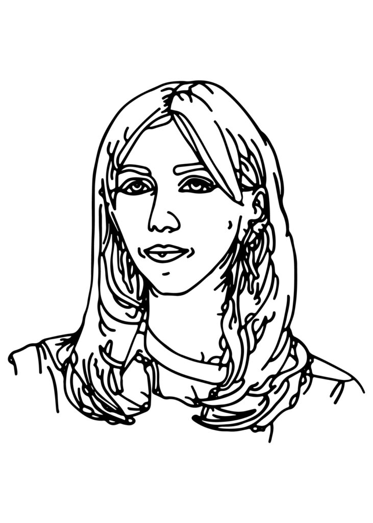 Graphic illustration with face