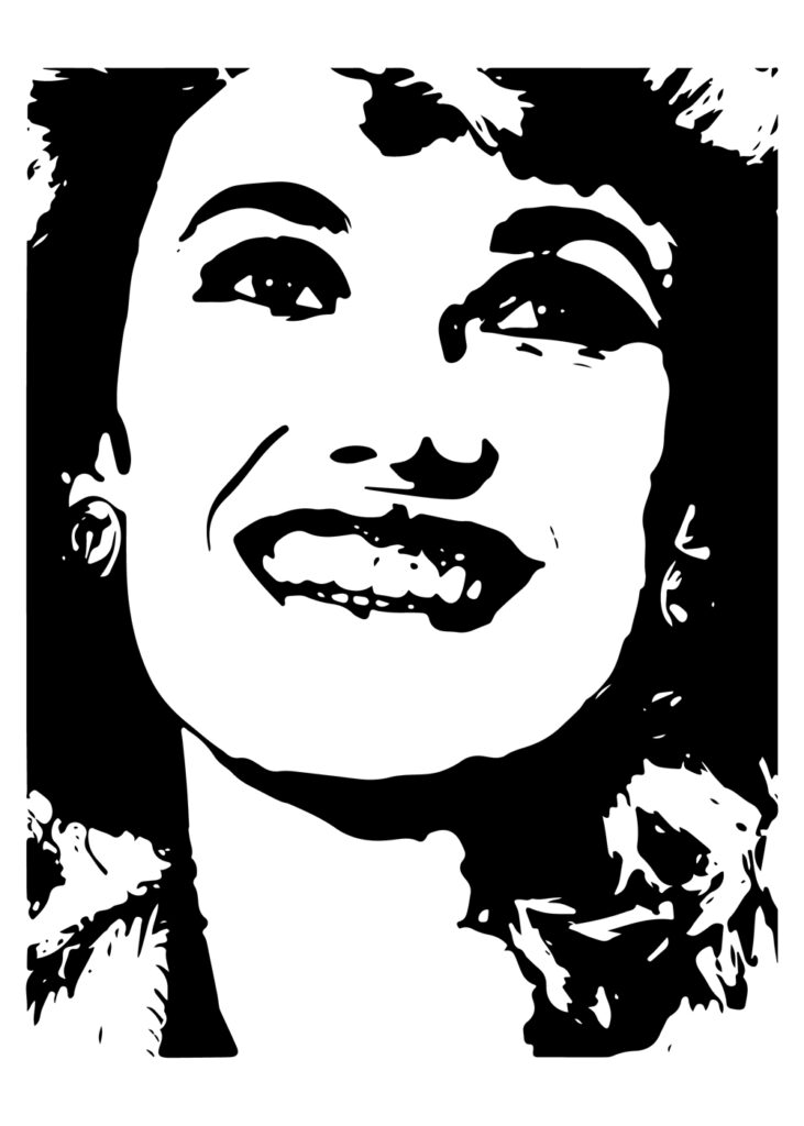 Graphic illustration with smiling face