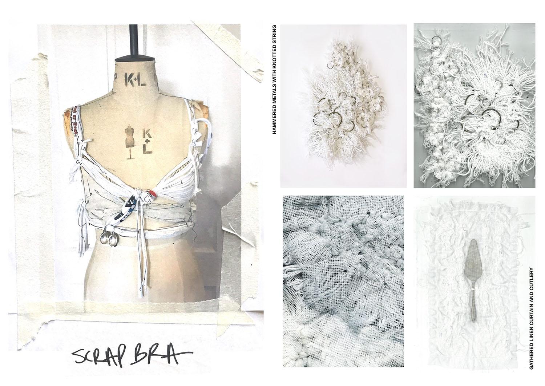 Fashion photograph and inspiration board