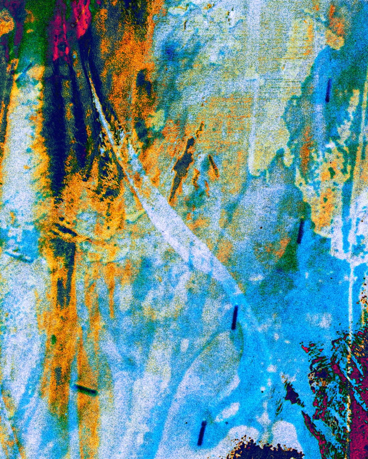 Blue Yellow and Black abstract painting