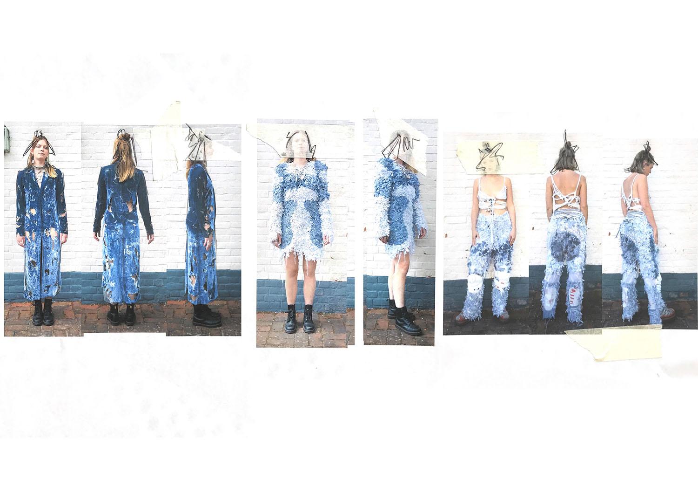 Fashion line up, photograph
