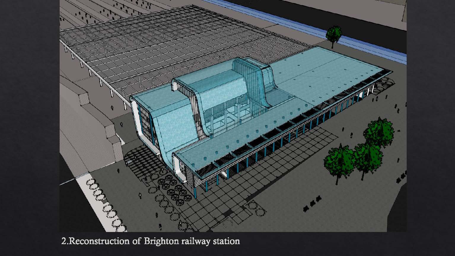 Brighton railway station redevelopment idea