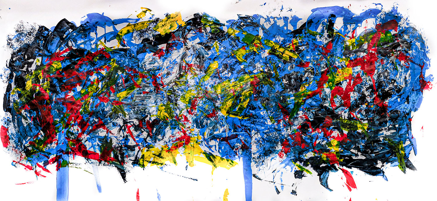 abstract artwork bright primary colours